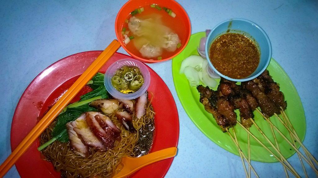 Image d'un plat d'un stall à Jalan Alor