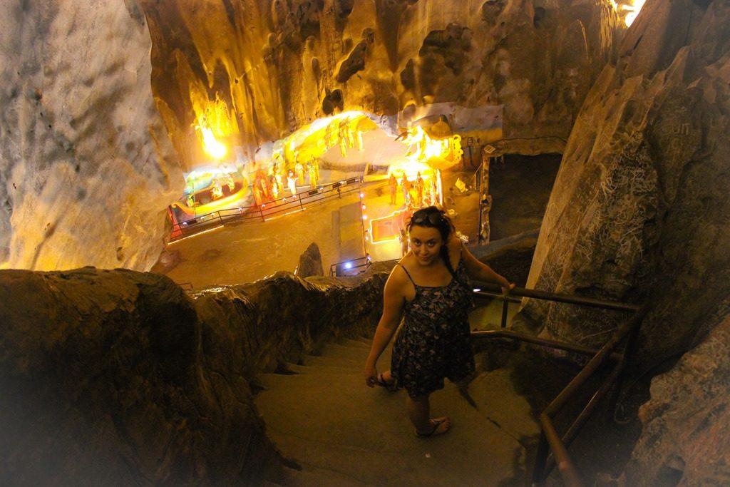 IMage d'une femme dans une Batu Caves