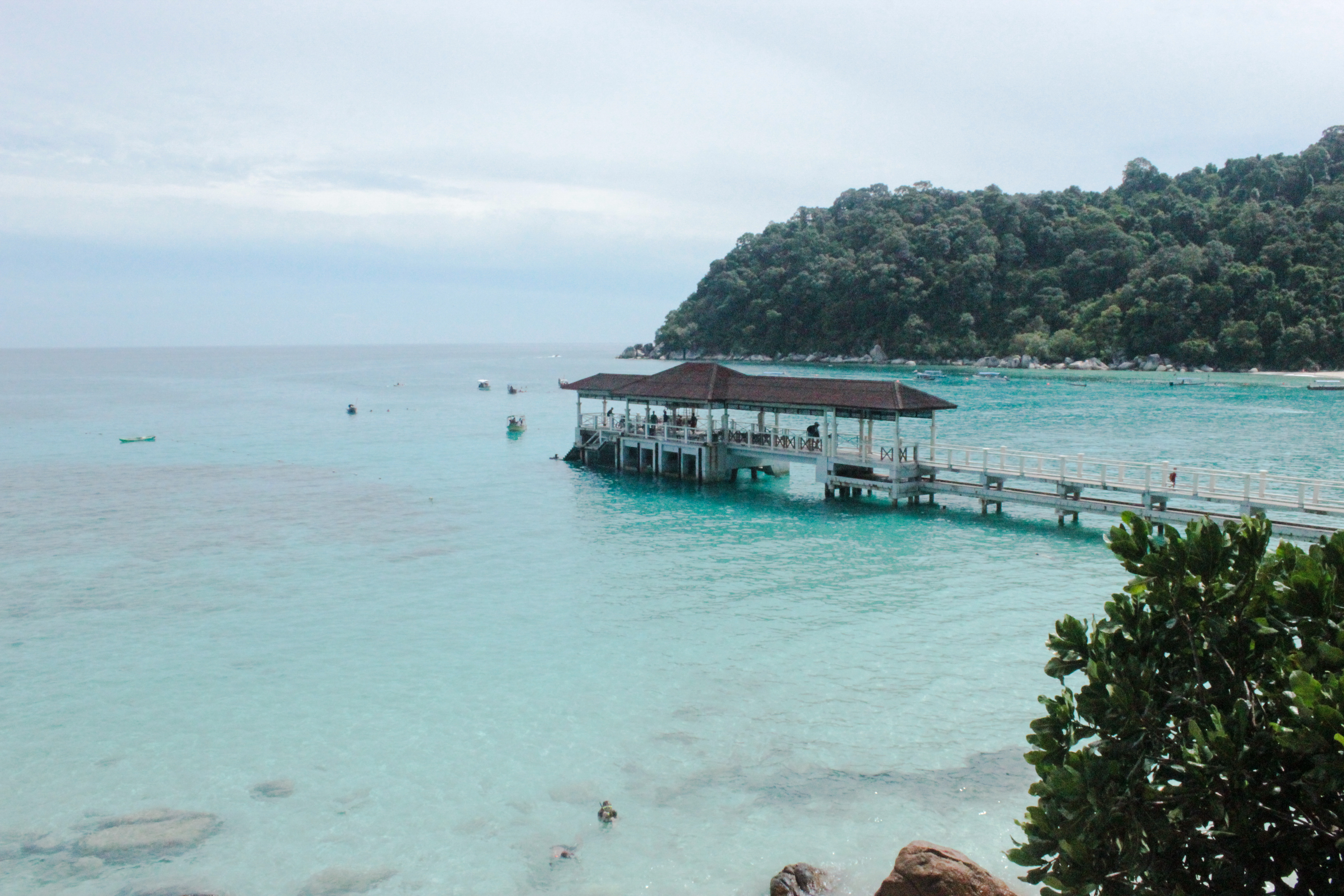 Image du ponton de Pulau Besar sur les iles Perhentian