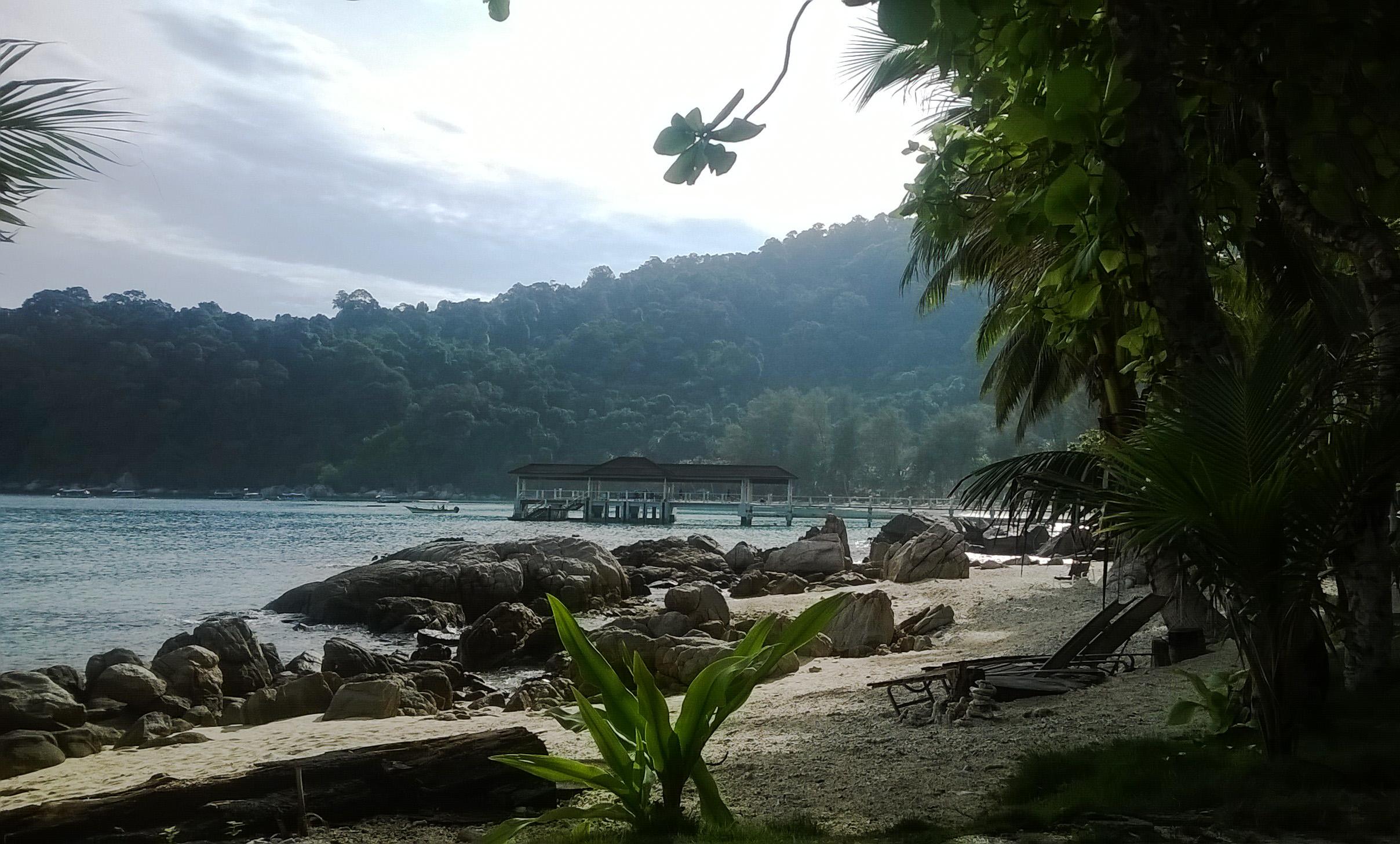 Image de la Vue de la terrasse du Coral View Island Resort