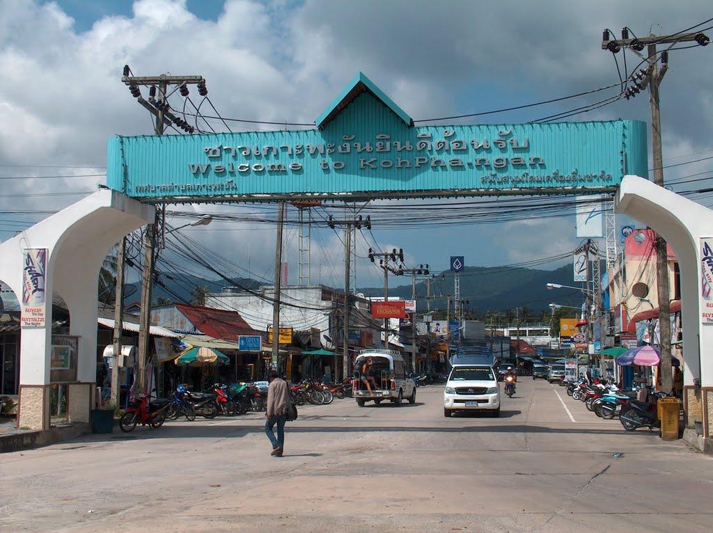 Image de la porte de la capitale de koh phangan