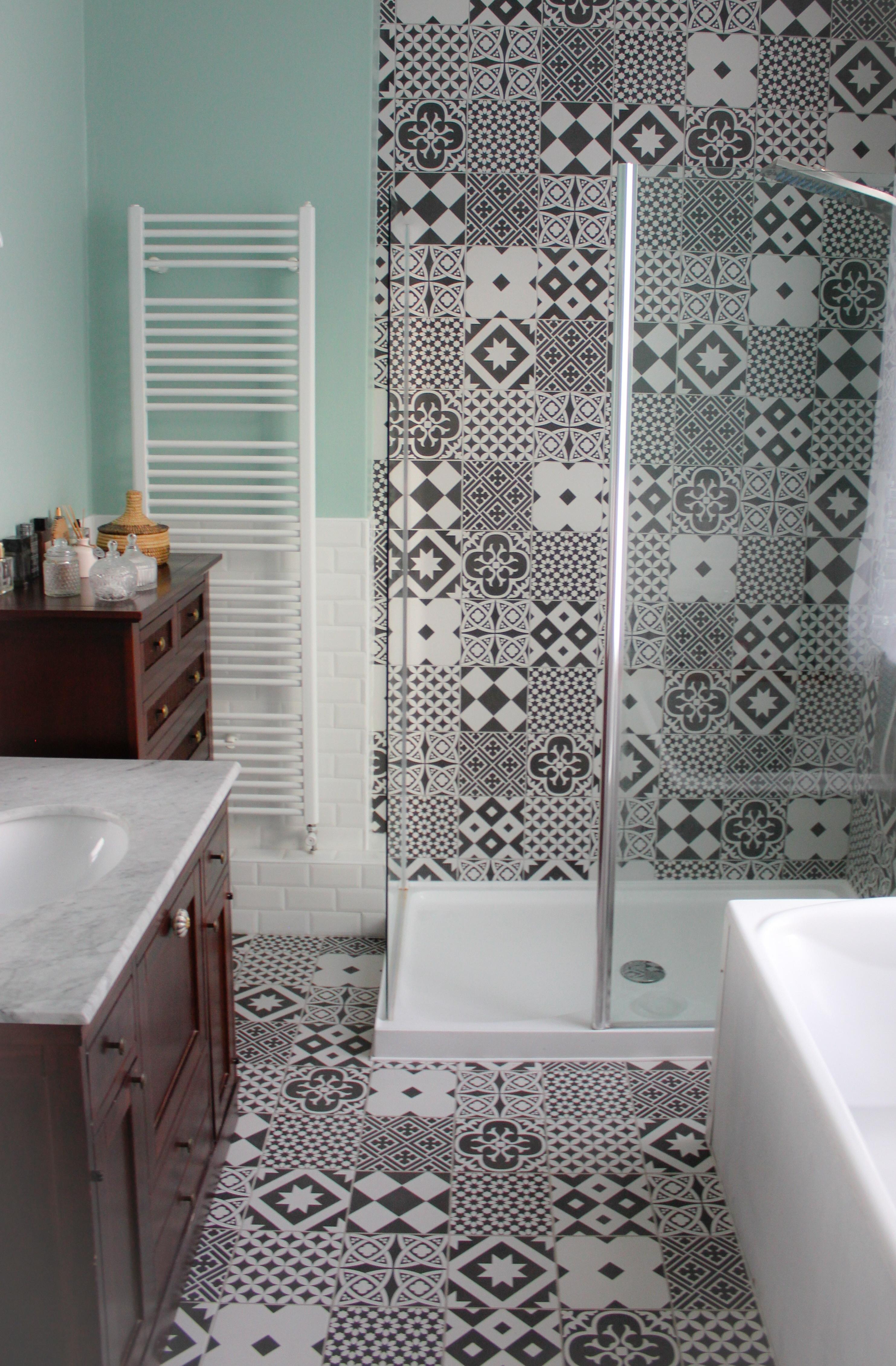 douche avec carreaux de ciment gatsby
